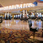 The lightly populated gambling floor of the Trump Plaza Hotel & Casino in Atlantic City N.J. on Wednesday. Trump Plaza closed today, the fourth Atlantic City casino to go out of business so far this year.