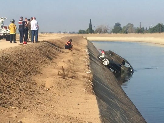 A Toyota Venza fished out of Friant-Kern canal.