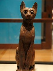 Figure of a cat, from the Ptolemaic Period-Roman Period,
