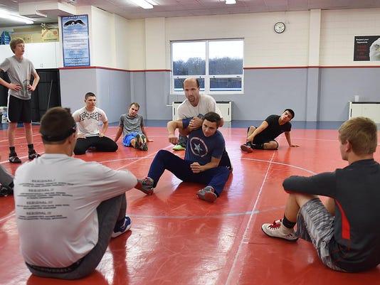 DCA 1203 sdoor wrestling practice