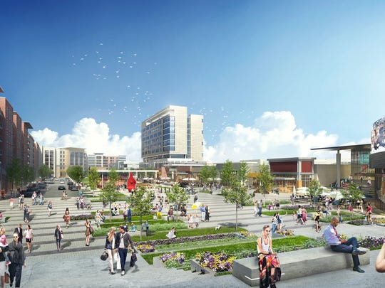 A conceptual drawing of the re-design of Monmouth Mall.