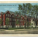 Image of an early view of St. John's Hospital, Springfield