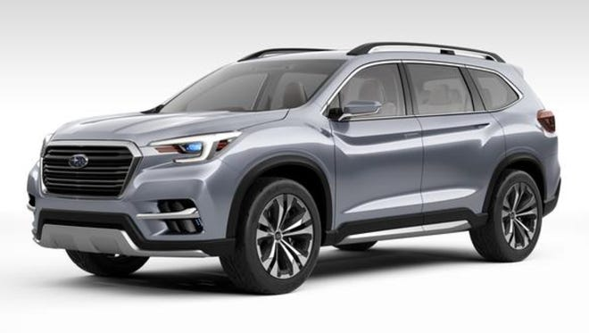 An image of the Subaru Ascent concept vehicle.