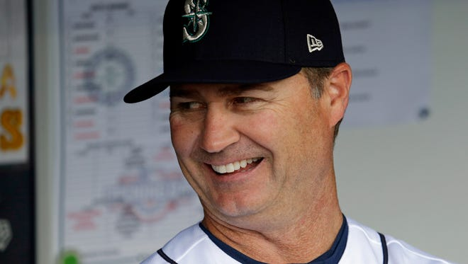 Seattle Mariners manager Scott Servais smiles before Monday's home opener.