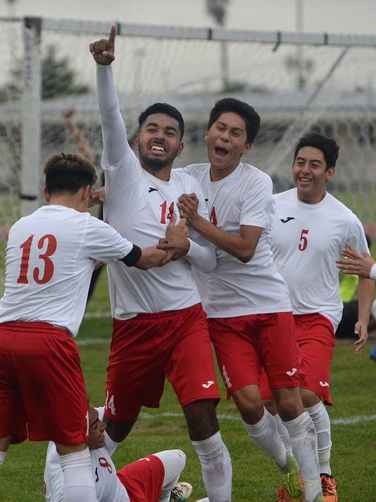 Pacifica High at Hueneme High boys soccer 1