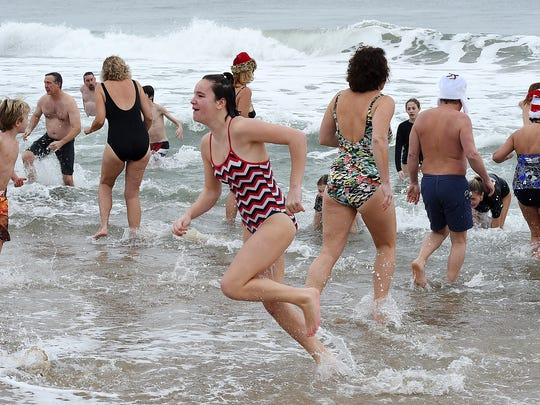 "Approximately 200 brave souls jumped into the Atlantic Ocean on Friday January 1st at the ""Fenwick Freeze"" in Fenwick Island to start the New Year of 2016."