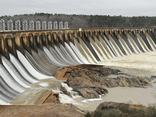 The Jordan Dam on the Coosa River above Wetumpka, Ala.,