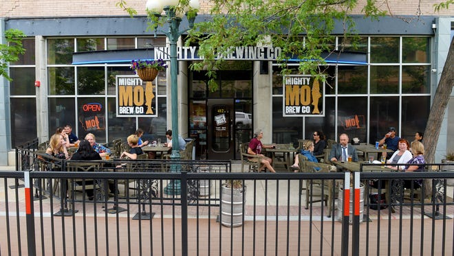 The patio at Mighty Mo Brewing Co in Great Falls. Mighty Mo was voted best beer selection.