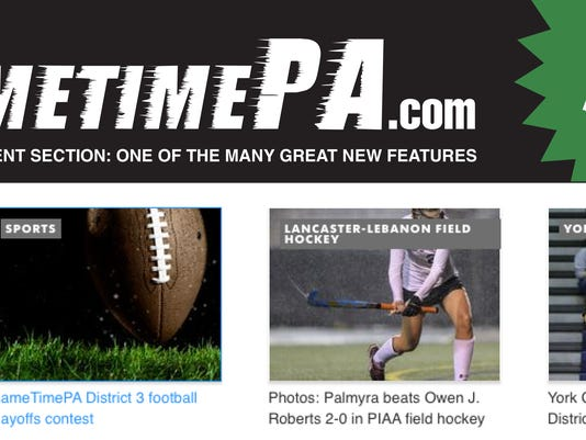 An example of what the new GameTimePA.com site will look like.