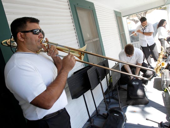 Oscar Diaz, trombone professor at Texas A&M University-Kingsville,