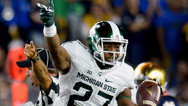 Michigan State safety Khari Willis is one of many in-state players competing in Saturday's Michigan State-Michigan game.