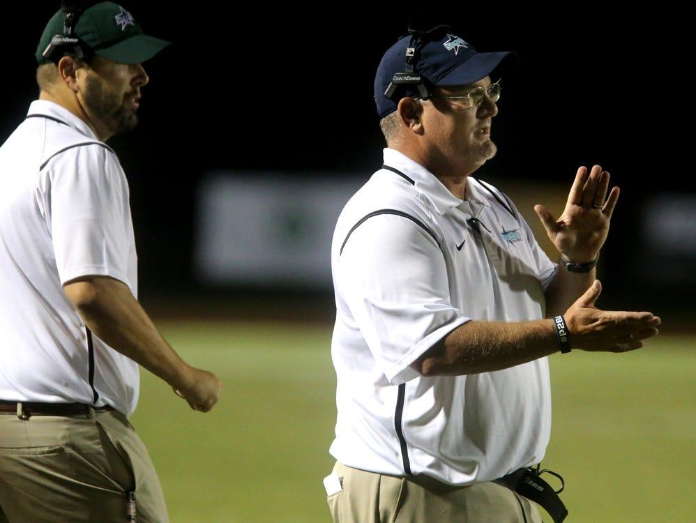 Siegel's head football Coach Greg Wyant