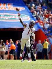 Nov 25, 2017; Gainesville, FL, USA;Florida State Seminoles