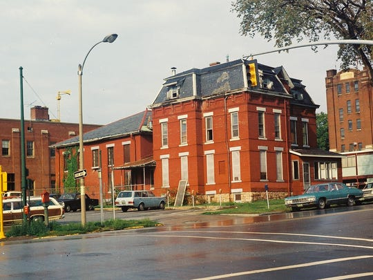 The former County Jailhouse that was on the corner of Main Street and South Winooski Avenue in Burlington. It stood between the fire station and the Ho Hum Motel, and across from the Chittenden Municipal Courthouse Building.