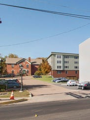 An apartment building proposed for downtown Essex Junction,