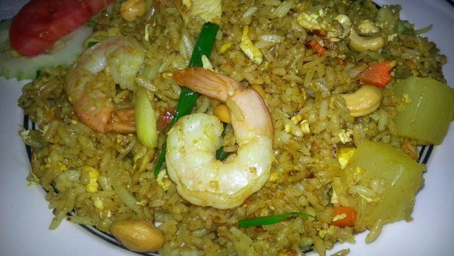 Pineapple fried rice is one of the traditional dishes served up at Jao Thai Kitchen in Melbourne.