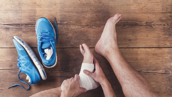 The pain runs from the bottom of the heel (plantar) along the inner side of the foot via the flat band of tissue that connects the heel bone to the toes (the fascia).
