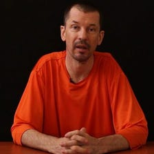A video released by the Islamic State group through Al-Furqan Media via YouTube on Sept. 18 shows British freelance photojournalist, John Cantlie, at an undisclosed location in which he says he is being held captive. (Photo: AFP/Getty Images)
