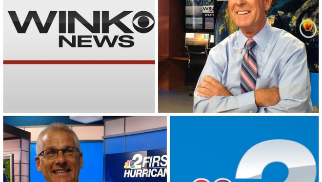 Jim Farrell of WINK and Robert Van Winkle of NBC2 are meteorologists who were broadcasting on Aug. 13, 2004, when Hurricane Charley made landfall.