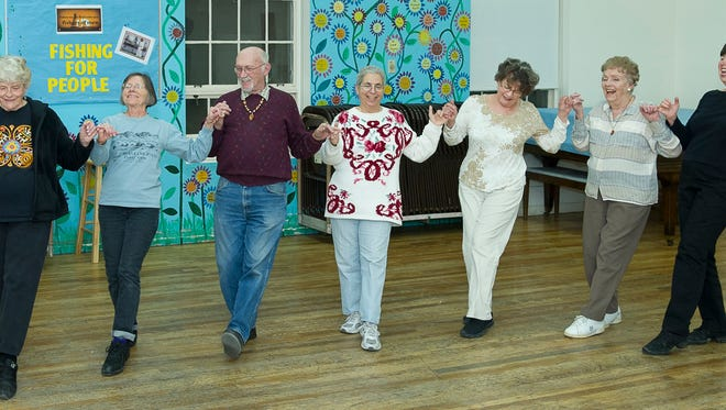 The Mesilla Valley International Folk Dancers put their best foot forward during Monday nights recreational dance at St. Andrew's Episcopal Church,  518 N. Alameda Blvd.