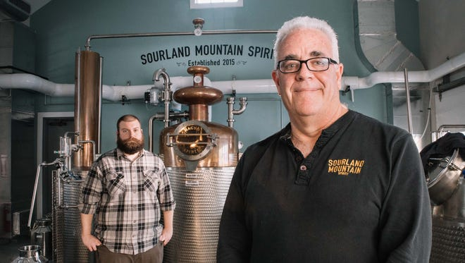 Founder Ray Disch and Joseph Naron, head distiller.