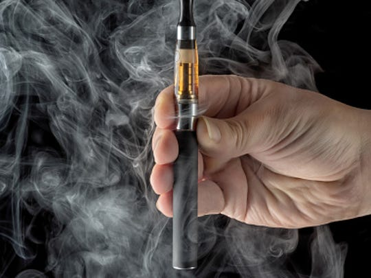An electronic cigarette, or e-cig.