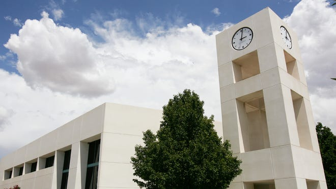The clock tower at San Juan College is pictured in this recent Daily Times file photo.
