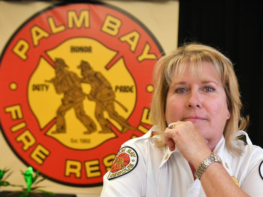 Leslie Robin-Hoog is the new fire chief of Palm Bay