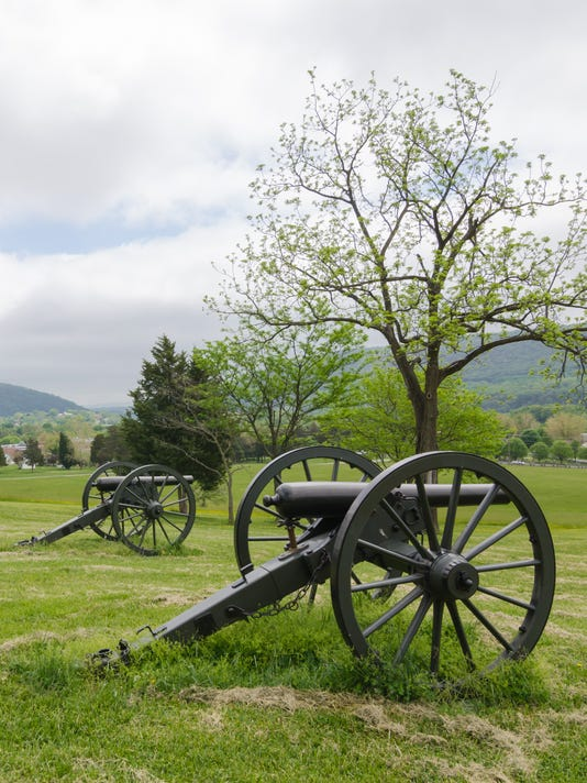 Harpers Ferry cannons Stock Image