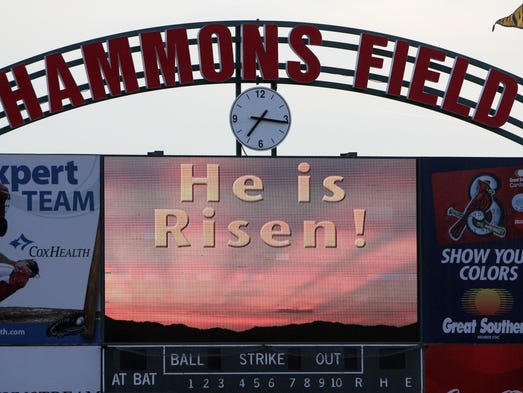 Scenes from the Easter Sunrise Celebration at Hammons Field in 2012.