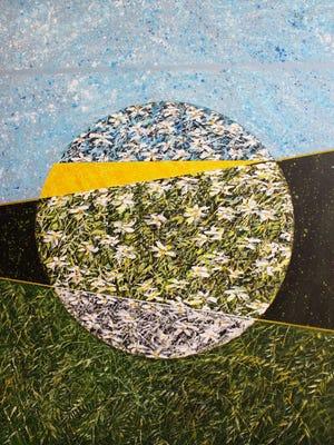 "Marleen De Waele-De Bock: ""Mother Earth,""   acrylic on canvas,  48 x 60 inches"