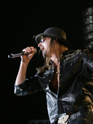 Kid Rock performing on July 17, 2009, at Comerica Park.