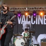 CHICAGO, IL - AUGUST 04:  Justin Hayward-Young and Pete Robertson of The Vaccines performs during Lollapalooza 2013 at Grant Park on August 4, 2013 in Chicago, Illinois.  (Photo by Theo Wargo/Getty Images)