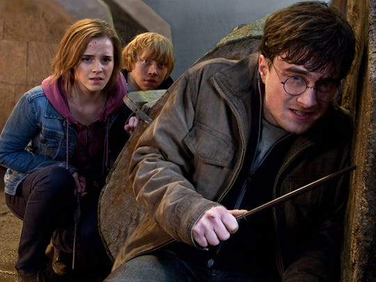 "Emma Watson as Hermione Granger, Rupert Grint as Ron Weasley and Daniel Radcliffe as Harry Potter in a scene from the motion picture ""Harry Potter and the Deathly Hallows - Part 2."""