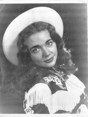 An autographed publicity photo of Billie Jean Horton she gave to Johnny Horton shortly after they met in the early 1950s, before they were married.