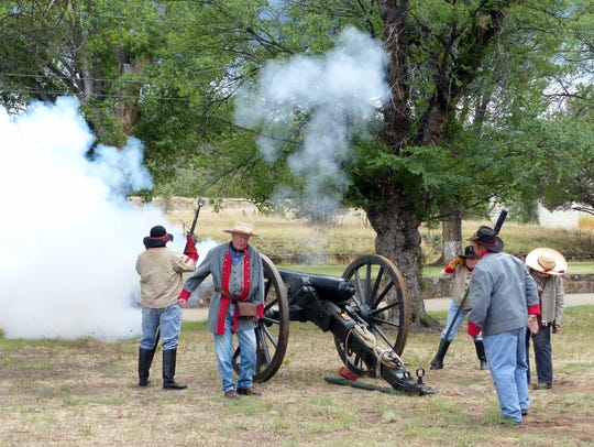 One of the most popular events was the firing of  artillery