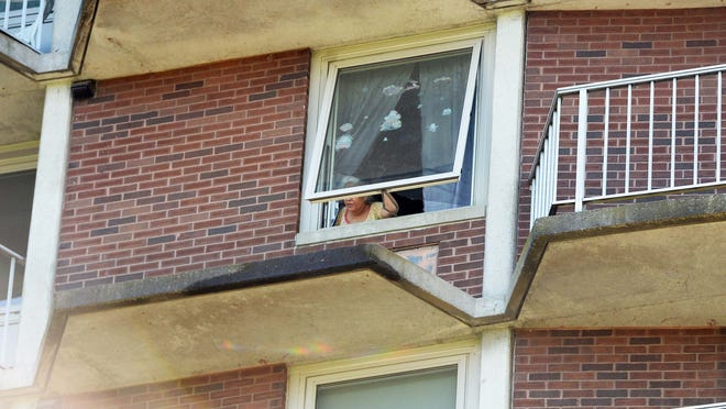 A boy fell from the ninth floor window of Belair Towers in Brockton on Sunday, June 21, 2020.