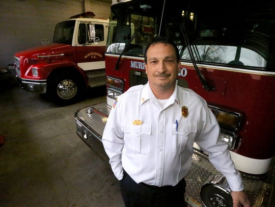 Murfreesboro Fire Chief Mark Foulks at the Murfreesboro