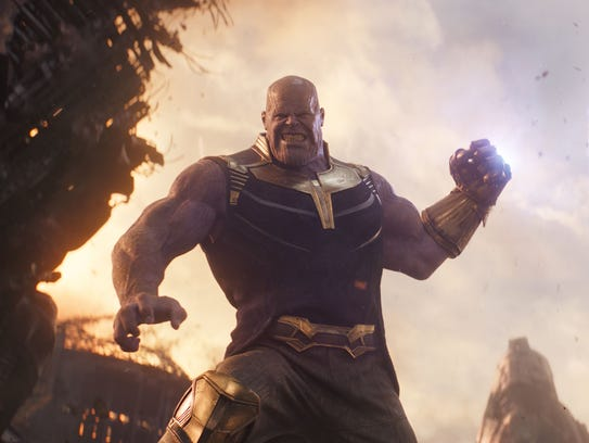 Thanos (Josh Brolin) is out to smash superheroes and