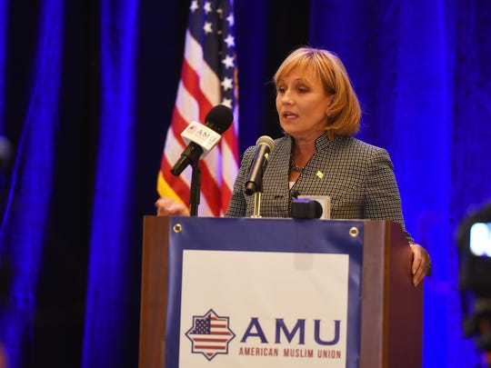 Lt.Governor Kim Guadagno speaks during the American