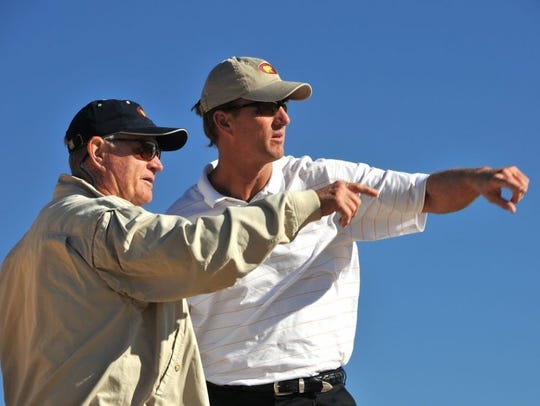 Jack Nicklaus, left, and son Jack II,
