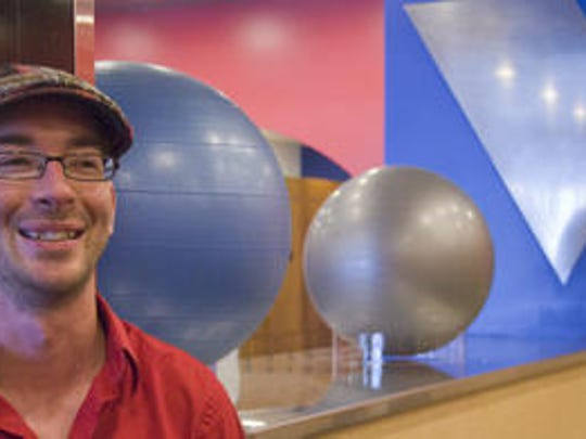 Bruce Tanner smiles a few weeks before the opening of Levels Gym in Plymouth in August 2010. Tanner is taking some time off from the gym to walk 800 miles from Portland, Maine, back home to Plymouth to prove there are still good people in the world.