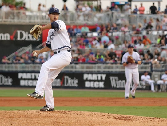 Tyler Mahle made minor league baseball history on April