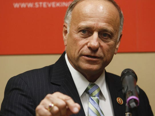 U.S. Rep. Steve King speaks at a news conference Oct.