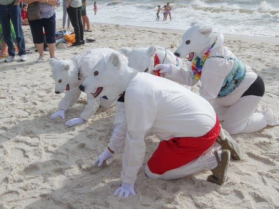 In 2018, you'll have three ways to splash into the New Year on Monday: the Polar Bear Dip at the Flora-Bama in Perdido; the Polar Bear Plunge at Santa Rosa Sound; and the inaugural Pirate Plunge in Navarre.