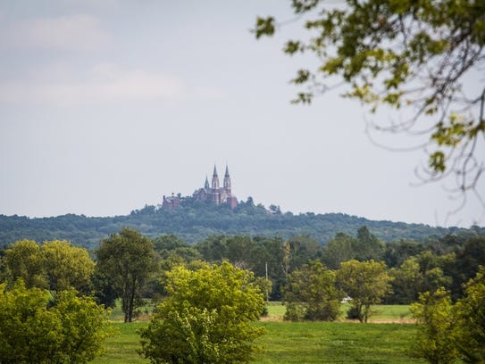 Holy Hill is situated atop southeastern Wisconsin's