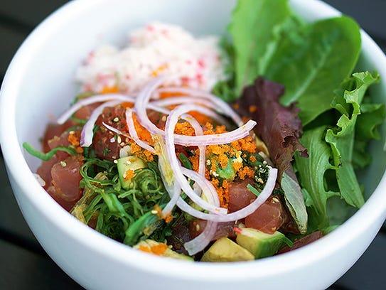 Kabuki Japanese Restaurant | The poke tuna is made