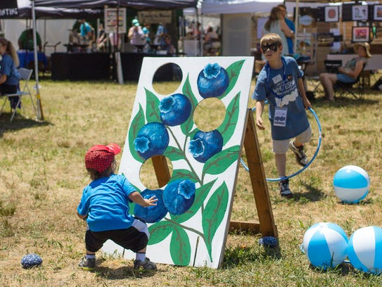 Games inspired by blueberries are part of the fun at