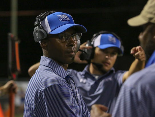 Washington High head coach Charlie Ward during the