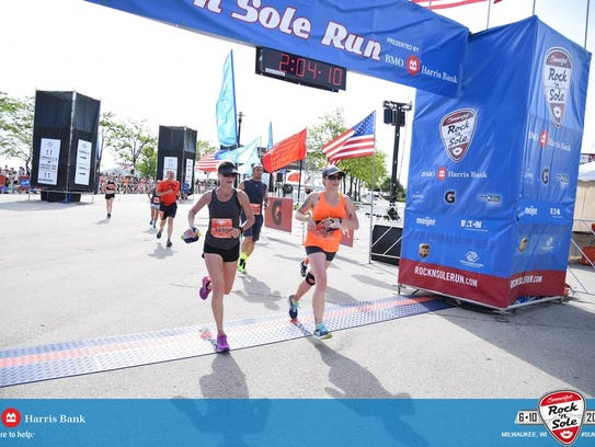 Stephanie Nottling runs the half marathon of the Summerfest
